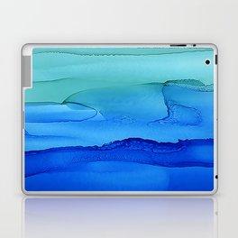 Alcohol Ink Seascape Laptop & iPad Skin
