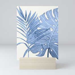 Blue Leaves I Mini Art Print