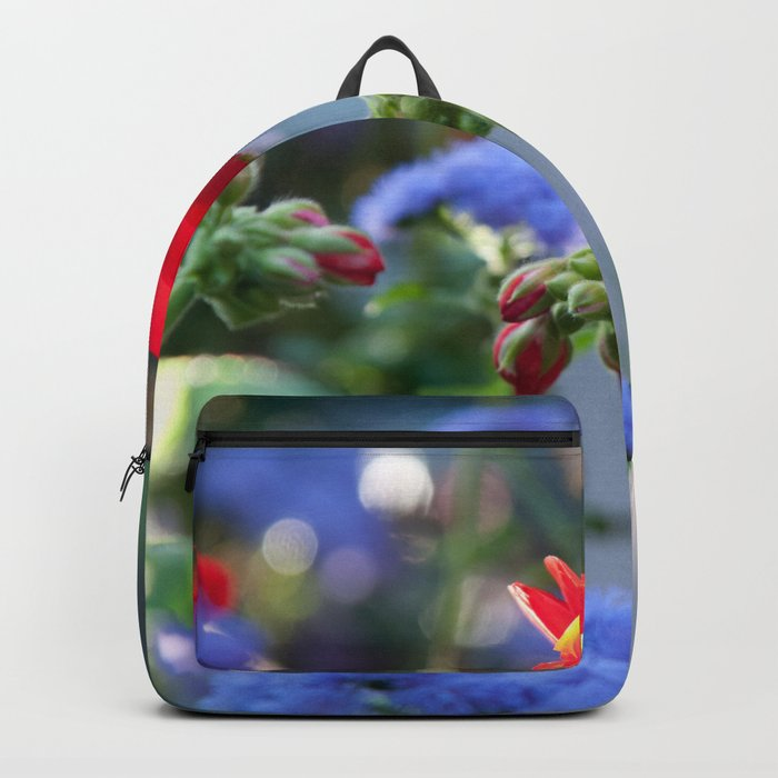 Red & Blue Floral Vibe #1 #decor #art #society6 Backpack