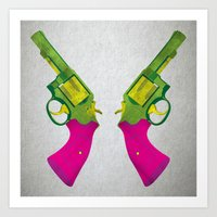 guns Art Prints featuring Play Guns by kakin