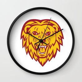 Angry Lion Big Cat Head Roar Wall Clock