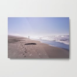Follow your dreams and ethereal walk on the beach Metal Print