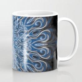white skull swirl mandala Coffee Mug