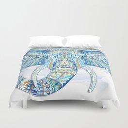 Blue Ethnic Elephant Bettbezug