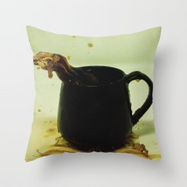 Drink coffee every morning to be better person Throw Pillow