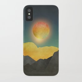 Surreal sunset 01 iPhone Case