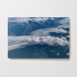 Aerial Glacier Two - Alaska Metal Print