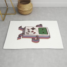 Old Gaming Device Handheld Game Consoles Rug