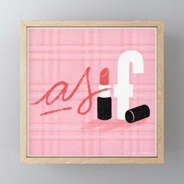 As IF! Framed Mini Art Print