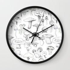 The mushroom gang Wall Clock