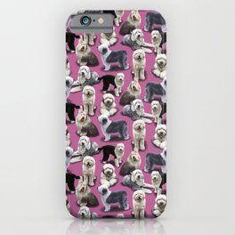 The Old English Sheepdog Pink iPhone Case