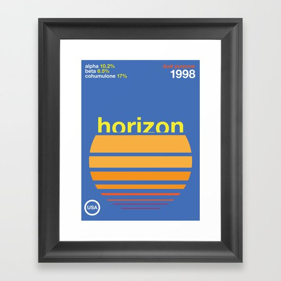 horizon//single hop Framed Art Print