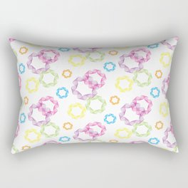 Curved & Twisted Lines Rectangular Pillow