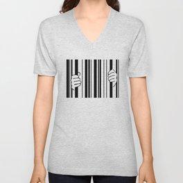 Barcode Unisex V-Neck