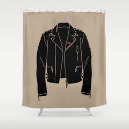 Leather Jacket - HANDSOME DEVIL'S CLUB (3/3) Shower Curtain