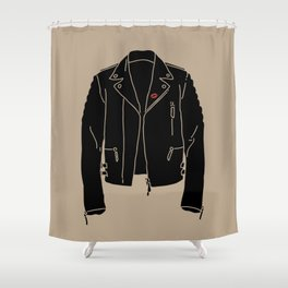 Leather Jacket - HANDSOME DEVIL'S CLUB (3/3) Shower Curtain
