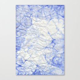 blue crumpled paper Canvas Print