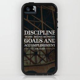 Typographic Quote Design  [Jim Rohn] iPhone Case