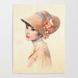 Audrey Hepburn - Eliza Doolittle - Watercolor Poster