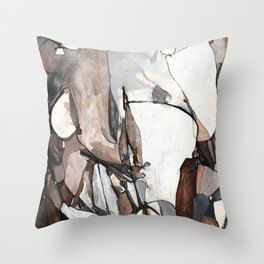 Walnut Cavern Throw Pillow