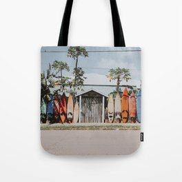 lets surf vi / maui, hawaii Tote Bag
