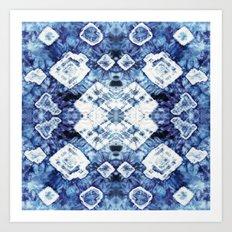 Blue Silk Tie-Dye Art Print