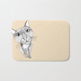 BigHead Cat Bath Mat
