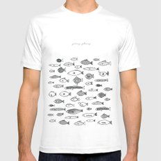 Going Places White MEDIUM Mens Fitted Tee