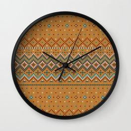 Pattern in Grandma Style #42 Wall Clock