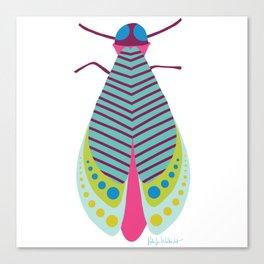 Jazzy Moth Canvas Print