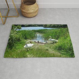 Bosherston Lily Ponds.Pembrokeshire.Wales. Rug