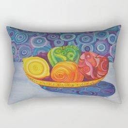 Fruit Bowl Still Life Rectangular Pillow