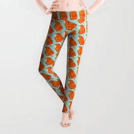 Popsicle Pattern - Creamsicle Leggings