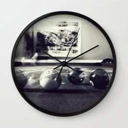Ghosts of the Pool Table Wall Clock