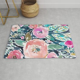 GARDENS OF CAPITOLA Watercolor Floral Rug