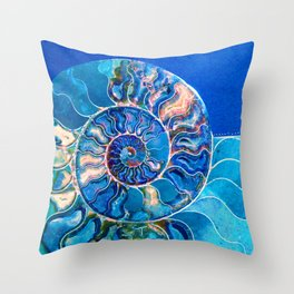 mysteries of the universe: madagascar ammonite Throw Pillow