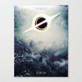 Interstellar Inspired Fictional Sci-Fi Teaser Movie Poster Canvas Print