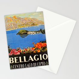 Italy Bellagio Lake Como Stationery Cards