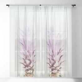 PASTEL PINEAPPLE no2 Sheer Curtain