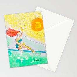 Skye & Sunshine- A Girl and Her Surfboard Stationery Cards