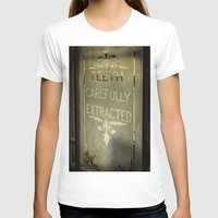 dentist T-shirts featuring Victorian Dentist Sign by Adrian Evans