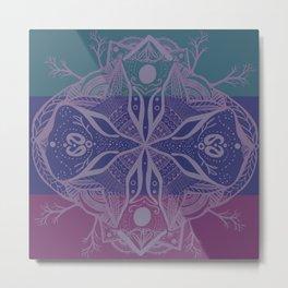 Mandala Drawing Metal Print