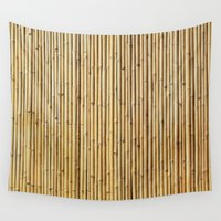 bamboo Wall Tapestries featuring Bamboo by Patterns and Textures