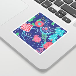 Flowers and Cactus Sticker
