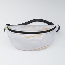 White & Gold Marble Fanny Pack