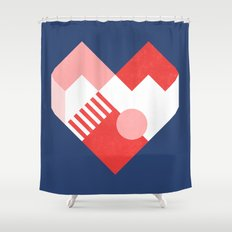 Heart II Shower Curtain