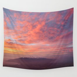 Haleakala Summit Sunset Wall Tapestry