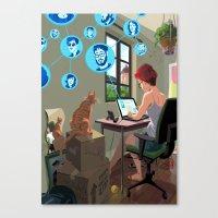 laptop Canvas Prints featuring Laptop by Josue Noguera