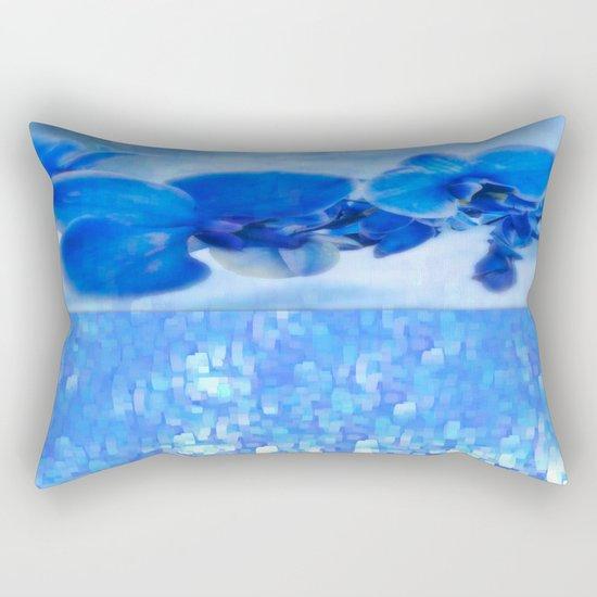 Blue Orchids Rectangular Pillow