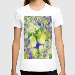 Green Violets Seamless Fractal - IA T-shirt